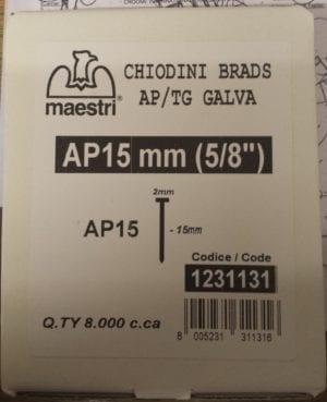 Maestri Brads AP/TG 15mm