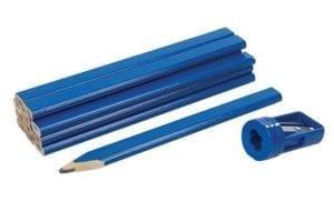 Carpenters Pencils & Sharpener Set 13pce
