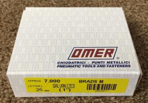 OMER 21g Brads 25mm/21mm